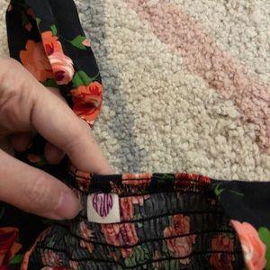 Anthropologie Dresses - Retro Vintage Rose Flower Mini Dress